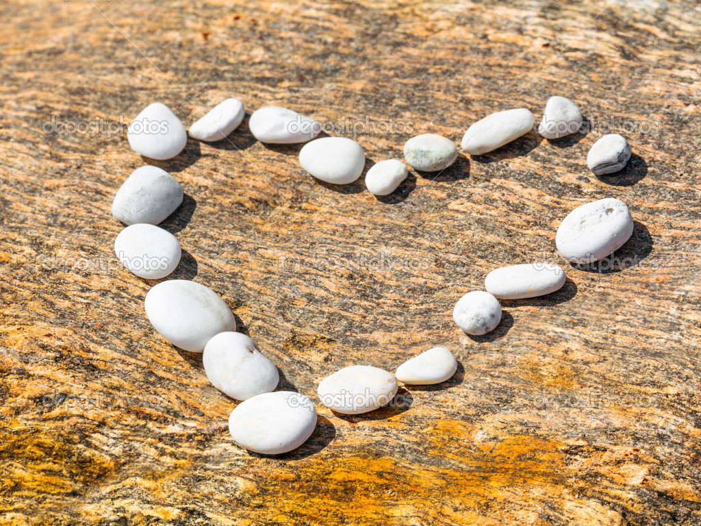 Heart shape from the pebble  Stock Photo #11233202