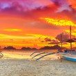 Boat at sunset — Stock Photo #11437795