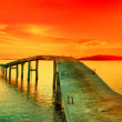 Sunset panorama — Stock Photo