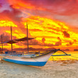 Boat at sunset — Stock Photo #11576571