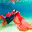 Woman underwater — Stock Photo #11915730