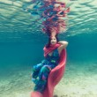 Woman underwater — Stock Photo #11915741