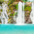 Waterfall panorama - Stock Photo