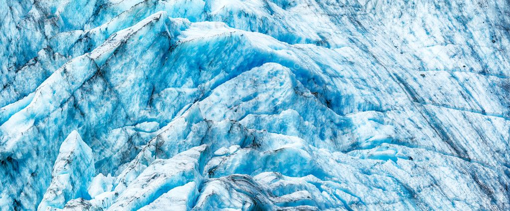 Panorama of the glacier surface — Stock Photo #12034205