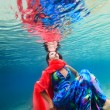 Woman underwater - Foto Stock