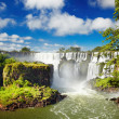 Iguassu Falls, view from Argentinian side - Stock Photo