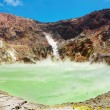 Stock Photo: Hot acid lake in volcanic crater