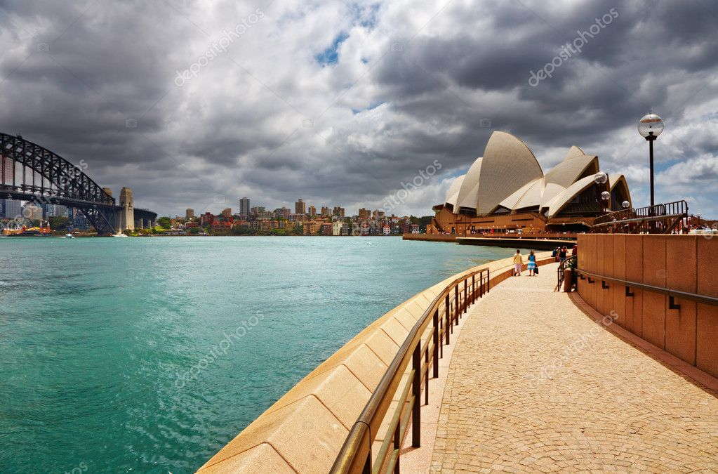 Sydney Opera House and Harbour Bridge, Australia   Stock Photo #11465184