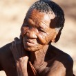 Bushman elderly woman — Stock Photo