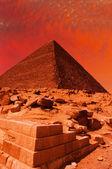 Pyramid fantasy — Stock Photo