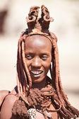 Himba žena v namibii — Stock fotografie
