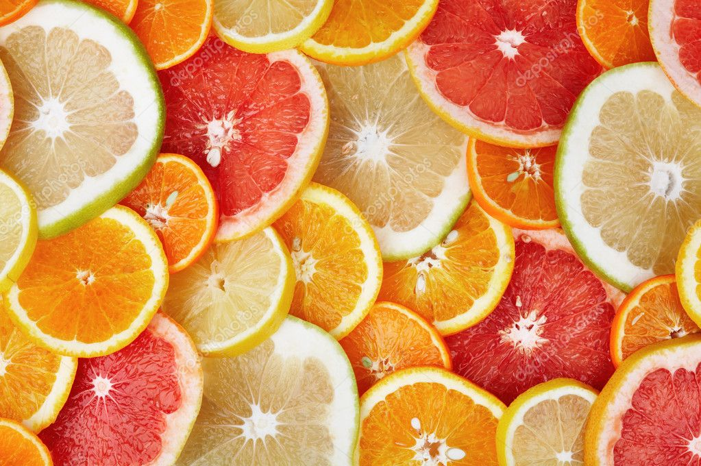 Colorful background of citrus fruits — Stock Photo #11648801