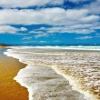 Ninety Mile Beach, New Zealand - Stock Photo