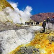 Inside active volcanic crater - Stock Photo