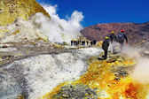 Inside active volcanic crater — Stock Photo