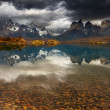 Sunrise in Torres del Paine National Park — Stock Photo #12163952