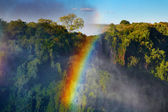 Rainbow over Victoria Falls — Stock Photo