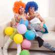 Stock Photo: Girls clown.