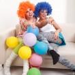 Girls clown. — Stock Photo