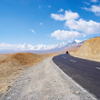 Stock Photo: Yellowish mountain road view in tibet of China