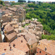Italian city rooftops - Stockfoto