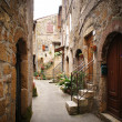 Stock Photo: Small backstreet in italivillage