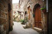 Typical italian narrow street — Stock Photo