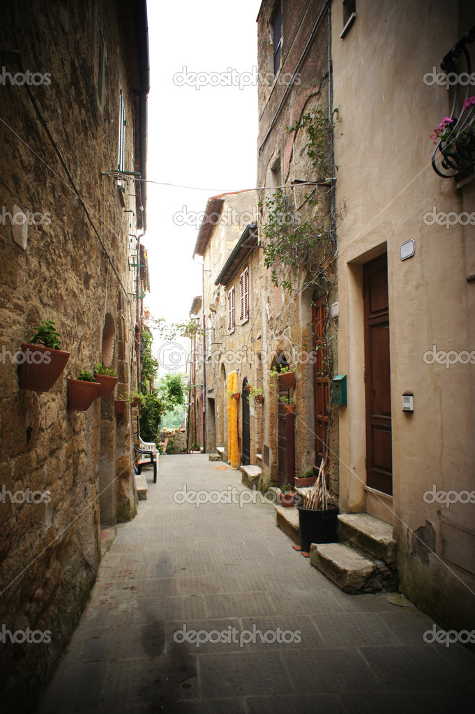 Small backstreet in an italian village  Stock Photo #11465014