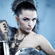 Stock Photo: Warrior woman. Fantasy fashion idea.