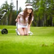 Stock Photo: Woman and golf
