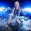 Stock Photo: Young sexy woman. Water studio photo.
