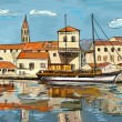 Croatia town street - illustration — Stock Photo