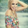 Foto Stock: Beautiful girl with wet hair.