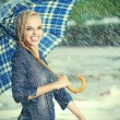 Beautiful girl with wet hair. — Stock Photo