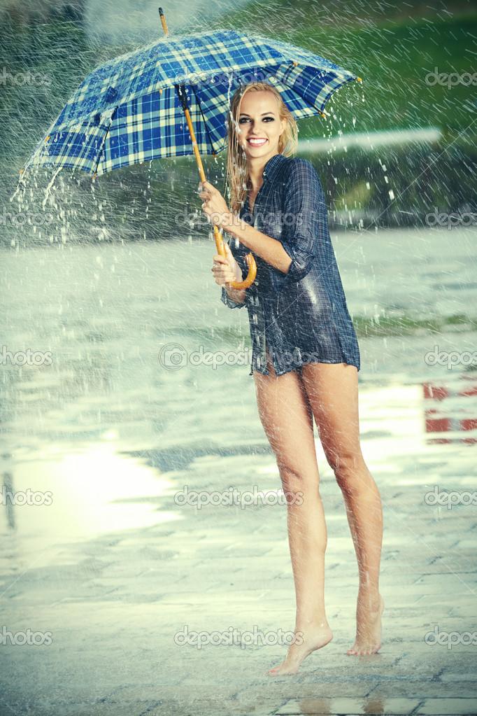 photo of girls with umbrellas № 22174