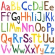 Stock Photo: Alphabet watercolors