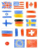 Collectie van vlaggen — Stockfoto