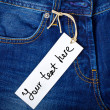 Jeans label — Stock Photo #11953022