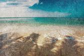 Exotiska tropiska stranden i retrostil — Stockfoto