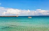 Belle vue de la plage de l'océan — Photo