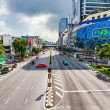 Free way on one of the central streets of Bangkok - Stock Photo
