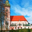 Church in small german town — Stock Photo