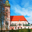 Church in small german town - Stock Photo