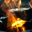 Fire burning close-up — Stock Photo