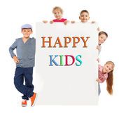 Kids with blank — Stock Photo