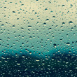 Water drops on window glass — Stock Photo