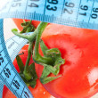 Tomato with measurement - Stock Photo