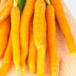 Royalty-Free Stock Photo: Fresh carrots with tops