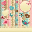 Scrapbook template - Imagens vectoriais em stock