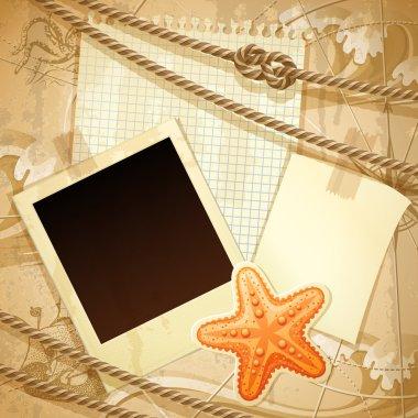 Nautical scrapbook template
